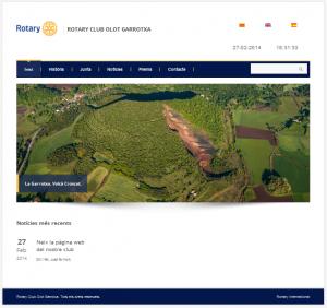 Pàgina web Rotary Club Olot Garrotxa